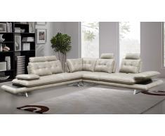 Sofá de ángulo relax XL imitación piel modulable - Kosveg