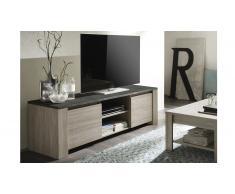 Mueble TV con encimero imitación pizarra - Eblano