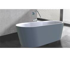 Bañera libre de instalación moderna gris Elena