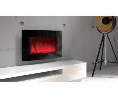chimenea elctrica redondeada led multicolor black kamin curve