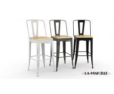 Lote de 4 taburetes 79cm - La Marcelle - al diseño industrial