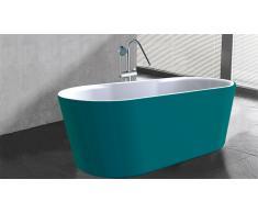 Bañera libre de instalación moderna azul Elena