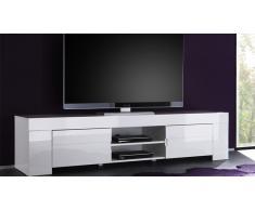 Mueble TV 190 cm de diseño lacado blanco Magao