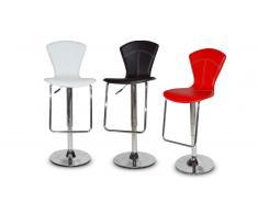 Undo - Taburete de bar o de cocina de diseño, asiento 60/80 cm