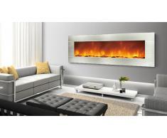 Chimenea eléctrica con marco de acero inoxidable - Kaminox Luxury