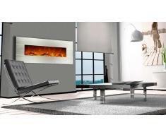 Kaminox 50 - Chimenea eléctrica con fachada acero inoxidable 128 cm