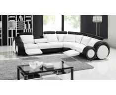 Pierce - Sofá de ángulo de diseño de piel relax