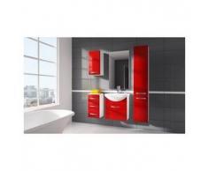 Mueble de baño modelo KORAL, rojo