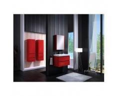 Mueble de baño modelo COMO, rojo 80 cm