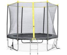 ALICE'S GARDEN Camas elasticas, trampolin para niños, Gris, 245cm Springbok - ALICE'S GARDEN