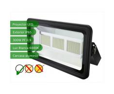 JANDEI Proyector led slim 300W exterior IP65 SMD5730 6000K negro