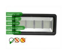 JANDEI Proyector led slim 400W exterior IP65 SMD5730 6000K negro