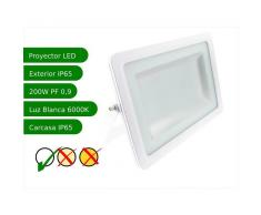 JANDEI Proyector led slim 200W exterior IP65 SMD5730 6000K blanco