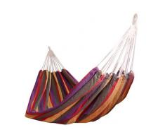 OUTSUNNY Hamaca Colgar 210 x 150 cm Playa Piscina Jardin Camping 70% Algodon Morado