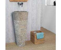 WANDA COLLECTION Lavabo de pie de mármol para cuarto de baño FLORENCIA gris - WANDA COLLECTION
