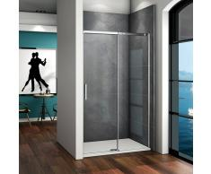 AICA SANITAIRE Mamparas de ducha cabina de ducha 6mm vidrio templado de Aica 145x80x195cm