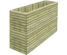 vidaXL Jardinera de madera de pino impregnada 197x56x96 cm