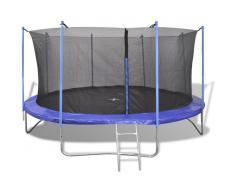 vidaXL Set de cama elástica de 5 piezas 4,57 m