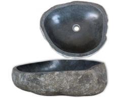 vidaXL Lavabo de piedra natural ovalado 40cm