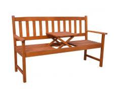 vidaXL Banco de jardín con mesa desplegable madera de acacia