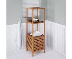VIDAXL Estantería de cuarto de baño 39,5x35,5x123 cm madera de nogal