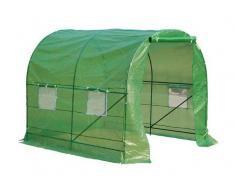 Outsunny Invernadero Caseta Verde Transparente Acero Polietileno PE 250 x 200 x