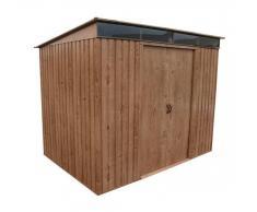 Duramax PENTROOF 8X6 WI caseta de jardín metálica un agua 250 x 180cm 4,5 m2,