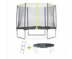 ALICE'S GARDEN Camas elasticas, trampolin para niños, Gris, 305cm Cabri - ALICE'S GARDEN