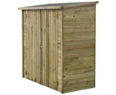 HABITAT ET JARDIN Caseta de jardín adosada LIPKI - 1.79 x 0.90 x 1.76/1.86 m - 1.62 m² - Sin suelo
