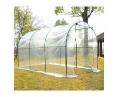 HOMCOM Invernadero Caseta 350x200x200 Acero Plastico Jardin Terraza Cultivo Plantas