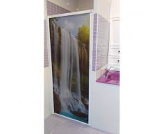 STRATEGY PRODUCTS Mampara enrollable para bañera con cajón derecha y cierre izquierda 150 x 120