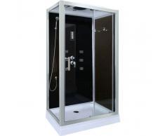 DP GRIFERIA Cabina de ducha en negro DP-1401 (100 x 70 x 210 cm)