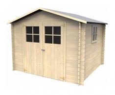 DéCOR ET JARDIN Caseta de madera - Galerna (19 mm, 270 x 270 cm, 7.24 m²) - DéCOR ET JARDIN