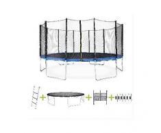 ALICE'S GARDEN Cama elastica 490cm, hasta 150kg, kit completo, trampolin Azul, Jupiter XXL