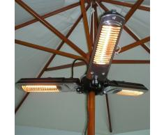 OUTSUNNY Calentador Electrico Portatil Estufa 100x100x8.5cm 3 Potencias Ajustables NUEVO