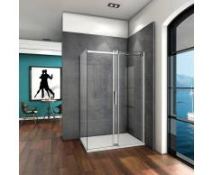 AICA SANITAIRE Mamparas de ducha cabina de ducha 6mm vidrio templado de Aica 115x70x195cm