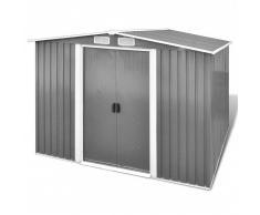 vidaXL Caseta de almacenamiento de jardín gris