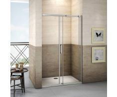 AICA SANITAIRE Mamparas de ducha cabina de ducha 8mm vidrio templado de Aica 110x70x195cm