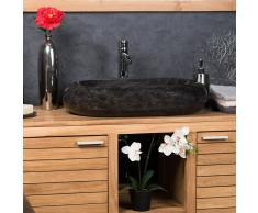 WANDA COLLECTION lavabo sobre encimera grande de mármol MURANO color negro