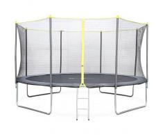 ALICE'S GARDEN Camas elasticas, trampolin para niños, Gris, 370cm Okapi - ALICE'S GARDEN
