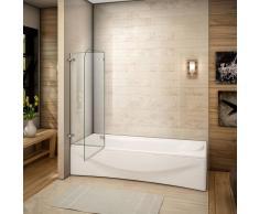 AICA SANITAIRE Mamparas/pantalla para bañera biombo baño plegable de Aica 100x140cm