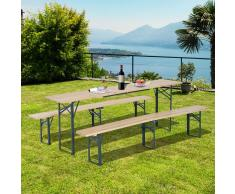 Outsunny Conjunto de Muebles para Jardín, Terraza, Patio, Camping o Picnic –