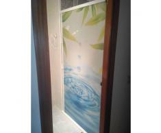 STRATEGY PRODUCTS Mampara enrollable para ducha con cajón derecha y cierre izquierda perfil