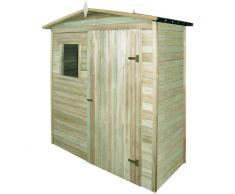 vidaXL Caseta de almacenaje de jardín madera de pino 200x100x210 cm