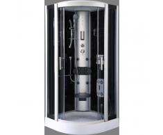 DP GRIFERIA Cabina de ducha en negro DP-1301 (90 x 90 x 215 cm)