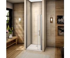 AICA SANITAIRE Mampara de ducha Pantalla baño plegable puerta de ducha Aica 100x195cm