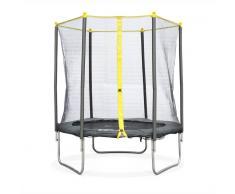 ALICE'S GARDEN Camas elasticas, trampolin para niños, Gris Amarillo, 180cm Naos