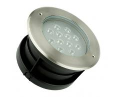 EFECTOLED Foco LED Empotrable en Suelo 12W Blanco Cálido 3000K - EFECTOLED