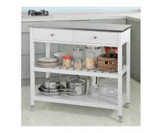 SoBuy® Carrito de servir, estantería de cocina, carrito de cocina móvil,
