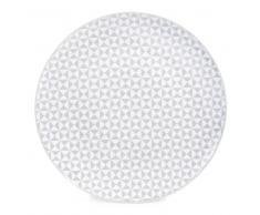 Plato llano de porcelana gris Diám. 27 cm GÉOMÉTRIK